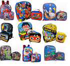 Внешний вид - Little Boys School Large Backpack Lunch box Set Cartoon Book Bag Kids Children