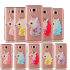 New 3D Unicorn Liquid Dynamic Quicksand Case Soft TPU Silicone Cover For Samsung
