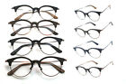 Wooden Large Oval Half Eyebrows Frame Wood Reading Glasses Readers +1.00 ~ +4.00