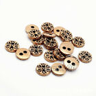 12pcs Round Metal 2-Hole Flat Buttons Snowflake Sewing Coat Embellishment 10mm