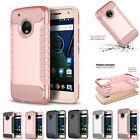 Armor Shockproof Hybrid Rugged Rubber Protective Case Cover For MOTO G5 Plus