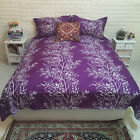 Tree Doona Quilt Cover Set Double King Size Bed Reversible Duvet Cover Sets New