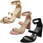 WHOLESALE Ladies Double Strap High Heel Sandals / Sizes 3-8 / 14 Pairs / F10769