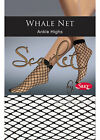 2 Pairs - Scarlet Whale Net Ankle Highs by Silky