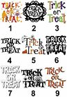 Trick or Treat Design Halloween Large Sticky White Paper Stickers Labels NEW