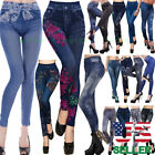 Women Trousers Leggings New Skinny High Waist Jeans Denim Stretchy Pencil Pants