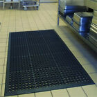 Indoor Commercial Heavy Duty Anti-Fatigue Kitchen Bar Floor Mat Black-HOT