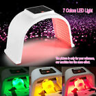 LED Photon Light Facial & Neck Mask Photodynamic PDT Skin Rejuvenation 7 Colors