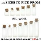 MINI GLASS VIAL BOTTLES WITH CORK VIALS MESSAGE BOTTLE CUTE JARS PENDANTS CHARMS
