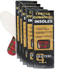 Grafters Ladies Insoles Shoes, Boots,Trainers Tartan Latex Foam Qty 15 Mix Pairs