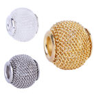 5pcs Rose Gold Silver hollow big hole spacer beads fit Charms European Bracelets