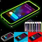 New LED Blink Light Remind Incoming Call Clear Cover Case For iPhone 5s 6 6 Plus