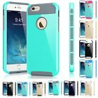 Hybrid Shockproof RuggedRubber Hard Case Cover Bumper For Apple iPhone 6 6S Plus