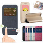 Smart PU Leather Window View Flip Pouch Bag Case Cover For iPhone 6/6 Plus/5 5s