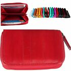 Women Zipper Card Wallet Women Card Purse Eel Leather Coin Wallet R204