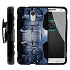 For Motorola Droid Versions Rugged Hybrid Holster Clip Case Armor Video Games