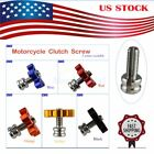 Motorcycle Cable Adjuster ATV Clutch Brake Screw M8 Bolt CNC Aluminum Motorbike