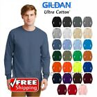 Gildan Ultra Cotton Long Sleeve T-Shirt Heavy Weight Mens Thick Plain Warm 2400