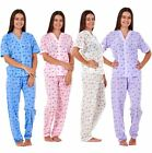 New Ladies Nightwear Buttons Cherry Print Short Sleeve Women Soft Pyjama Sets
