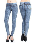 D2D Women's 3 Pockets Tie-Dye No Zipper Stretch Super Skinny Jean Leggings Pants