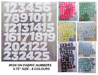 """IRON ON DIE CUT FABRIC NUMBERS ! 1-25!! Apx 3 quarters of 1 inch""""! Christmas!"""
