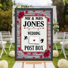Personalised Wedding Cards & Gifts Post Box Sign Print N170 (Print Only)
