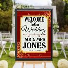 Personalised Welcome to our Wedding Sign Banner Poster Print N172 (Print Only)