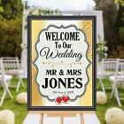 Personalised Welcome to our Wedding Sign Banner Poster Print N173 (Print Only)