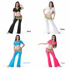 Belly Dance Casual Cotton Tribal Choli Bandage Top and Pants Yoga Exercise Set