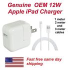 NEW OEM 12W USB CHARGER DATA SYNC CABLE CORD FOR APPLE iPad Air 2 Pro Air Mini 4