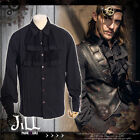 Steampunk goth aristocrat island explorer jabot crease dress shirt【JRSPM001】B