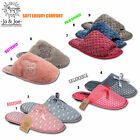 Ladies Womens Soft Warm Winter Furry Bedroom Slip On Slippers Mules Shoes Size