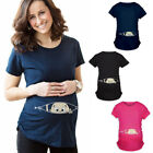 Внешний вид - Cartoon Baby Print Staring Women Maternity Pregnant Short T-shirt Funny Top