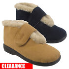 Women Ladies Warm Fur Trim Lined Winter Warm Leisure Coolers Slipper Boot Size