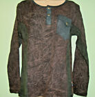 New Fair Trade Gringo Long Sleeve Cotton Top with Poppers Hippy Boho Sz S/M M/L