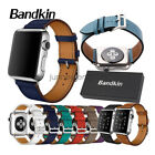 Bandkin Genuine Leather Single Tour Bracelet Strap Band for Apple Watch 3 / 2 /1