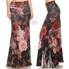 Floral Rose Fashion Sublimation high waist maxi long skirt S/M/L/XL/1XL/2XL/3XL