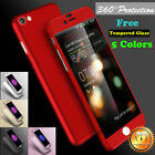 For Iphone 6 6s 7/plus 360° Protective Case Shockproof Slim Cover+tempered Glass