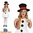 SNOW GIRL SNOWMAN TABARD + HAT XMAS Age 3-10 Girls Childs Fancy Dress Costume