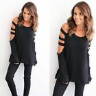 Fashion Women Ladies Loose Casual Long Sleeve T-Shirt Cotton Blouse Tops T-Shirt