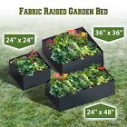 Fabric Raised Garden Bed Herb Flower Vegetable Plants Bed Rectangle Planter