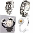 925 Sterling Silver Delicat Bow, Dasy, Rose, Blossom Ring All Sizes