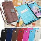 Crocodile Wallet Case for Samsung Galaxy Note5 N920 Note Edge Note4 Note3 Note2