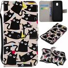 Black Cats Pu Leather Wallet Case Flip Cover Stand Card Slot For Cell Phones