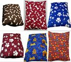 2 x Large Dog Pet Bed Pillow Cushion With Removable Washable Cover 2 Dog Beds