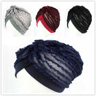 Muslim Ladies Lace India Inner Cap Islamic Chemo Head Wrap Scarf Bonnet Hat Arab