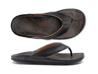 Внешний вид - Olukai Hiapo Black/Black Comfort Flip Flop Men's sizes 8-15 NIB!!!