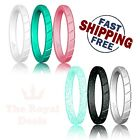 6Pcs Silicone Wedding Ring Rubber Band Set Women Work Sport Outdoor Comfortable
