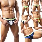 Men's Silky Brief with Transparent Bulge Enhancing Mesh Pouch - Sexy Underwear
