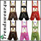 Ladies Lederhosen German Bavarian Trachten Oktoberfest Women Short Length Outfit
